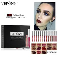 <b>VERONNI 12 Colors Matte</b> Waterproof Liquid Lipstick Set - China ...