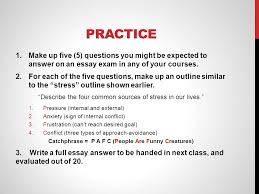 taking essay exams discussion why should you take time to  18 practice 1