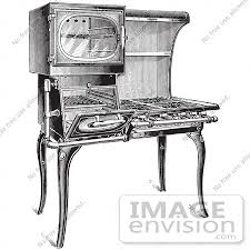 gas stove clipart black and white. #61324 retro clipart of a vintage antique gas stove in black and white - royalty