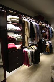 awesome walk in closet ideas in tiny space with wooden shelves and led closet  lights and