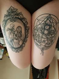 My Two Thigh Tattoos Both Done By Ash At The Crow Quill Tattoo