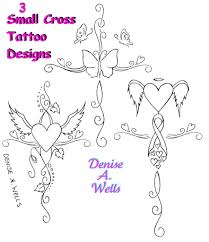 Girly Cross Designs Small Girly Cross Tattoo Designs By Denise A Wells Flickr