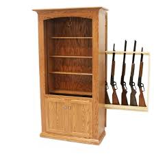 Hidden Gun Storage Bookcase Amish Gun Cabinet