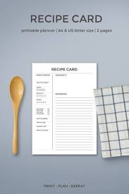 create your own cookbook template recipe cards printable recipe card template recipe