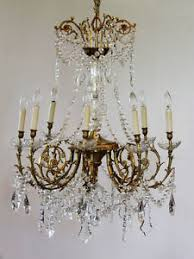 bronze and crystal chandelier. Image Is Loading Antique-Rare-Baccarat-Gilt-Bronze-Crystal-Chandelier -Showstopper Bronze And Crystal Chandelier