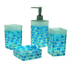 Aqua Blue Turquoise Bathroom Accessories  Turquoise Bathroom Aqua Colored Bathroom Accessories