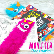 adorable monster bookmark craft for your little monsters a perfect monster craft to bring fun