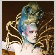theatrical hair rococo fashion fantasy hair fantasy makeup hair shows thierry mugler