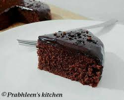 Eggless Chocolate Cake With Chocolate Ganache Prabhleen Kaur