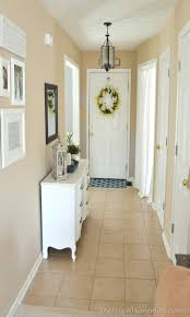 Benjamin moore white dove a nice soft white and sherwin williams sea salt. Entryway Before And After Beige To Greige With Behr Paint The Frugal Homemaker