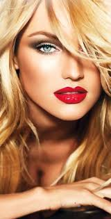 you can also use s and cs but a little more carefully to give natural and fresh look use lip gloss instead of lipsticks red lips blue eye
