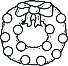 Christmas Wreath Coloring Page Wreath Coloring Page Best Image