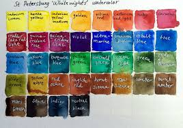St Petersburg White Nights Watercolor Chart In 2019
