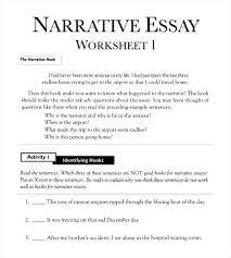 Example Of Narration Essay Example Narrative Essay High School Essay
