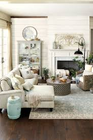 Warm Living Room Designs Cream Floral Pattern Fabric Rug Glass Table Warm Cozy Living Room