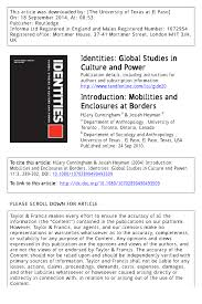 PDF) Introduction: Mobilities and Enclosures at Borders