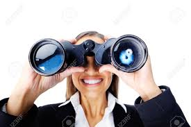 portrait of a businessw searching for new job opportunities portrait of a businessw searching for new job opportunities binoculars can also be used