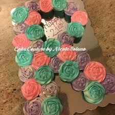 Cupcake Order Form Custom R Monogram Letter Shaped Pull Apart Cake Made Out Of Cupcakes Cake