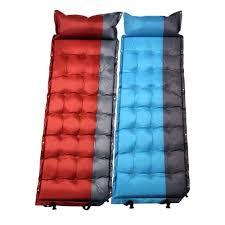 inflatable camping mat outdoor pillow folding sleeping bed air mattress moistureproof travel camping sleeping pad 196 65 5cm high back patio chair cushions