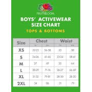 Fruit Of The Loom Boys Long Sleeve Crew T Shirt With Rib Cuffs
