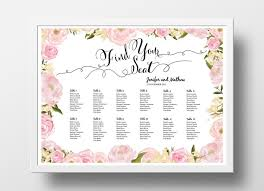Wedding Seat Chart Poster Wedding Seating Chart Poster Diy Editable Powerpoint Template