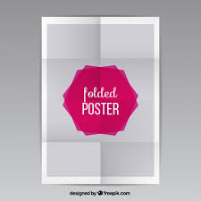 Folding Poster Template Folded Poster Vector Free Download