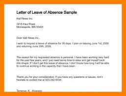 Sample Letter For Absence From School Excused Absence From School Letter Example Of Absence Excuse