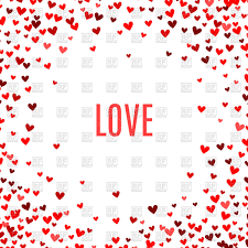 Romantic Red Little Hearts Background Vector Illustration Of