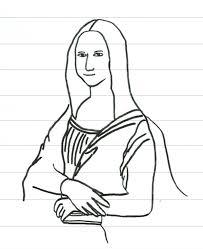 Leonardo Da Vinci Mona Lisa Coloring Page Glavbuh Me Chronicles