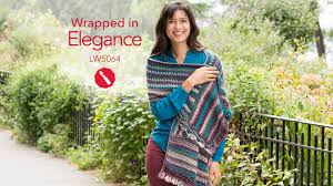 Red Heart Free Patterns Amazing Wrapped In Elegance Free Crochet Shawl In Red Heart Boutique