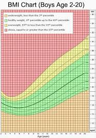 Body Mass Index Chart For Kids Pin On Nutrifacts