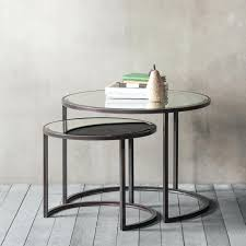 gallery coffee table argyle coffee table nest of 2 dare gallery concrete coffee table