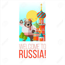 Welcome To Russia Banner Or Printable Items Vector Illustration