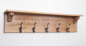 Name Coat Rack Grand Personalised Coat Hooks By House Of Carvings 1