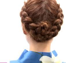 結婚式 髪型 ショート 編み込み 美しい髪