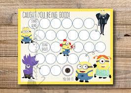 Minion Behavior Chart Kids Reward Chart Minions Reward Chart Printable