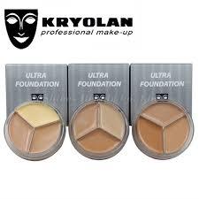 aliexpress kryolan 3 color make up concealer paleta de