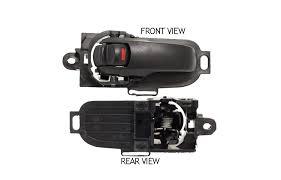 07 09 nissan versa 3 4dr door handle driver side black inside front rear
