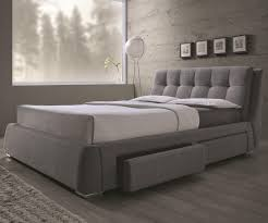 grey upholstered bed king. Fenbrook California King Upholstered Bed With Storage Drawers Grey B