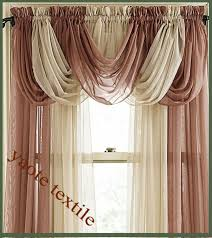 sheer curtains with valance attached
