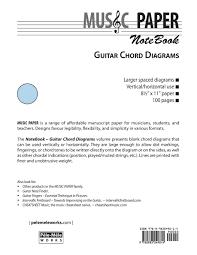 Music Paper Notebook Guitar Chord Diagrams Amazon Co Uk Ashkan