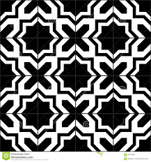 Black And White Pattern Tile Impressive Black And White Moroccan Tiles Seamless Pattern Vector Illustration