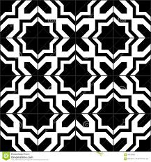 Black And White Pattern Tile Impressive Black And White Moroccan Tiles Seamless Pattern Vector Illustration