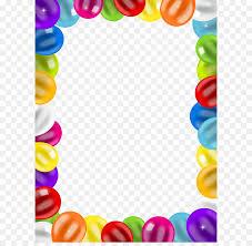balloon birthday clip art balloons border frame png clip art image