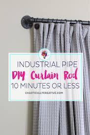 Diy Curtain Rods Easy Diy Curtain Rods Chaotically Creative