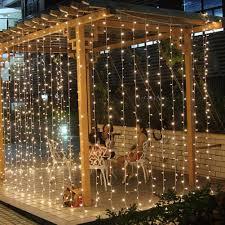 Balcony Lights 3mx3m 300 Led String Lights Curtain Lights 220v Light Home Balcony Garden Christmas Decor