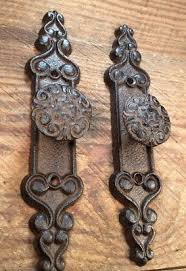 antique door knobs hardware. Delighful Door 2 Handles RUSTIC Cast Iron Antique Style Barn Gate Pulls Drawer Door Shed  71 Intended Antique Knobs Hardware A