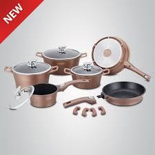 royalty line cast marble coating 14 pcs cookware set