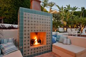 custom tiled fireplace