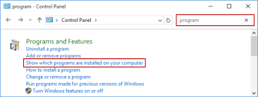 Check Installed Programs In Windows 10